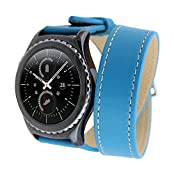 Generic Leather Double Ring Watch Band for Samsung Gear S2 Classic Leather Replacement Watchband Wristband Bracelet...
