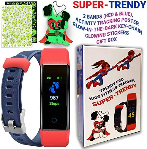 Kids Fitness Tracker for Kids Activity Tracker - Smart Watch for Android Phones iOS Digital Watch Smart Step Calorie Counter Sleep Monitor Exercise Pedometer Alarm Clock (2Bands) 8