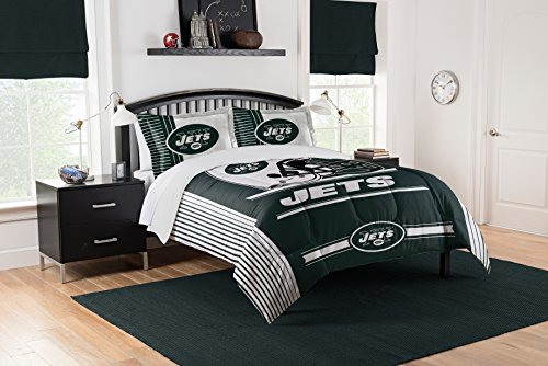 Officially Licensed NFL New York Jets Safety Full/Queen Comforter and 2 Sham Set