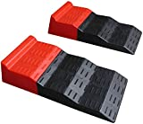 BUNKERWALL Tandem Axle Leveler Ramps for Camper, RV, Travel Trailer, Caravan or Motorhome - 2 Ramps (One Pair) BW4203