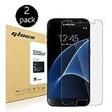 [2-Pack] Galaxy S7 Screen Protector, HoPerain 0.25mm[Tempered Glass] 9H Hardness, Anti-Scratch, Anti-Fingerprint,,Samsung Galaxy S7