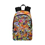 Foliage Autumn Autumn Gold Yellow Leaves Gold Casual Daypack Travel Bag College School Backpack for Mens and Women
