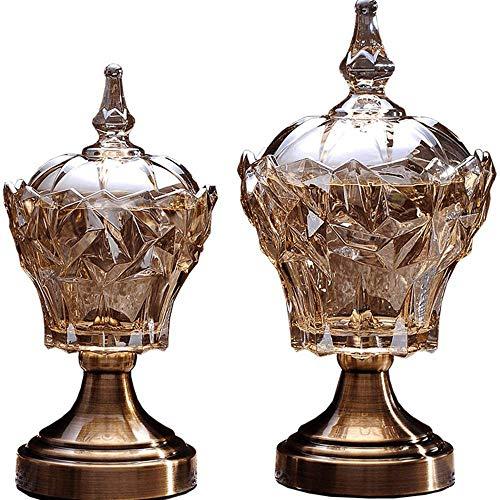 Jumedy Cristal Creativo Europeo frascos de Caramelos Adornos de Fruta Seca Floreros de Vidrio Frascos de Almacenamiento de...