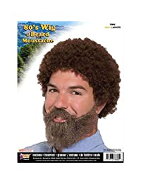 80's Guy Wig and Beard with Moustache