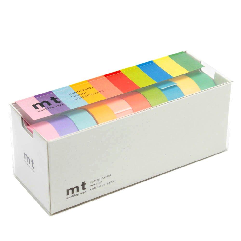 Rubans de masquage MT Washi, Lot de 10, couleurs vives (Mt10p003) NaSh-Design