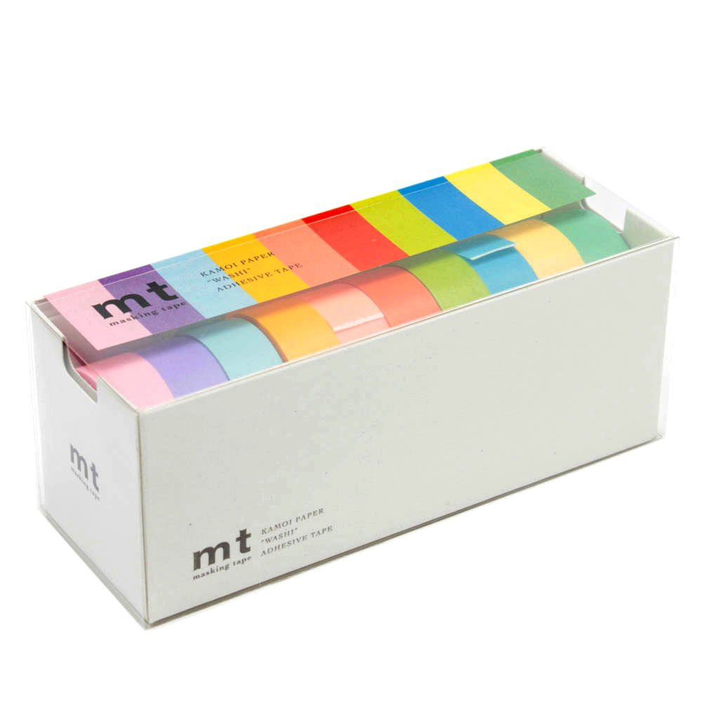 MT Washi Masking Tapes, Set of 10, Bright Colors (Mt10P003)(Japan Import)