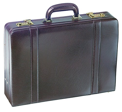 (Business Leather Attaché Case Color: Burgundy)