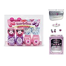 Melissa & Doug Role Play Collection - Step In Style! Dress-Up Shoes Set (4 Pairs) and Bonus Princess Treasury Beauty Set