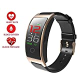 KOBWA Smart Fitness Tracker, Waterproof Tracker Watch with Heart Rate, Blood Pressure, Pedometer