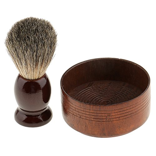MagiDeal Wooden Shaving Brush Barber