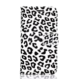 Samsung Galaxy S6 Case, Pasonomi Leopard Leather Wallet Flip Cover Stand Case for Samsung Galaxy S6 (Gray)