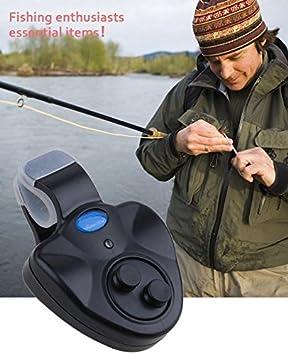 Clip led MelysEU para caña de pescar, alarma electrónica de mordida, alarma de pez, timbre, alarma electrónica de alerta