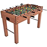 MDF Frame Foosball Table Game Soccer Arcade Sized Indoor Competition Sports 48''L w/ 2 Footballs