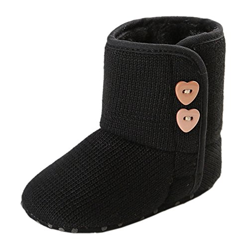 Leap Frog  Winter Snow Boots, Baby Mädchen Krabbelschuhe & Puschen Schwarz