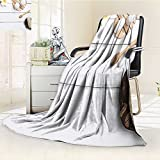 Nalahome Luminous Microfiber Throw Blanket spa set candle soap coconut massage with white background top view Glow In The Dark Constellation Blanket, Soft And Durable Polyester(60''x 50'')