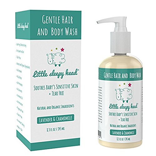 Gentle Baby Shampoo and Body Wash Sensitive Skin - Natural & Organic Baby Shampoo Ingredients – Calming Lavender & Chamomile - Paraben Free, Phthalate Free, Sulfate Free Shampoo & Body Wash