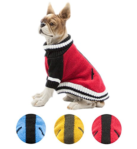 Red Dog Knit Sweater (Petslove Turtleneck Pet Dog Sweater Apparel Pet Knit Clothing Winter Cold Weather Red L)