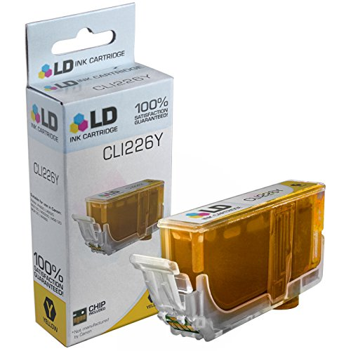 LD © Canon Compatible CLI-226 (4549B001AA) Yellow Ink Cartridge for use in Canon PIXMA iP4820, iP4920, iX6520, MG5120, MG5220, MG5320, MG6120, MG6220, MG8120, MG8120B, MG8220, & More