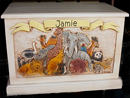 Toy Box Wood Personalized with a Name