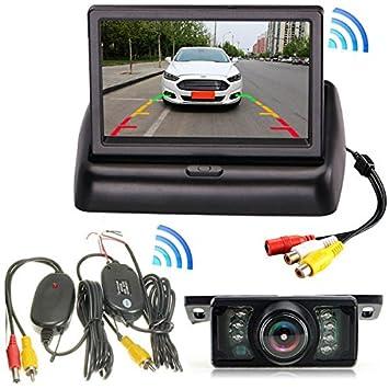 Sistema de cámara de seguridad para coche con pantalla LCD de 4,3 pulgadas,