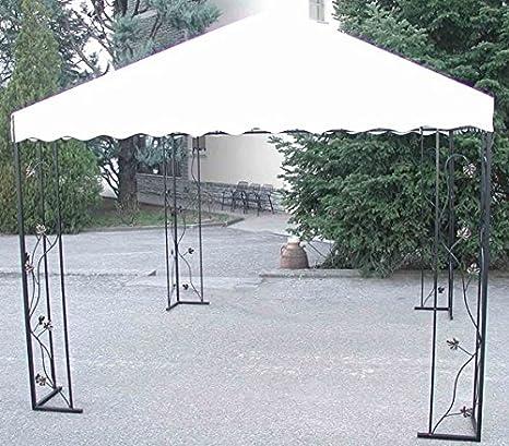 CRUCCOLINI Línea Jardín Baco Cenador de hierro forjado 3 x 3 ...