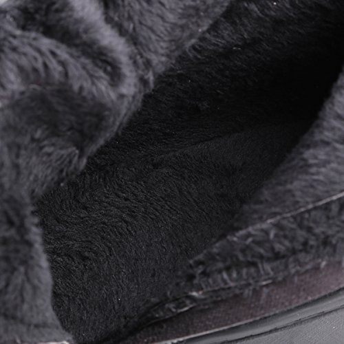 Winter Warm Black Over By Black Suede The BIGTREE Strap Faux Fall Metal Women Boots Knee Boots Flat Riding wwRBYXq