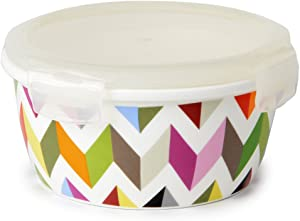 French Bull 21 oz. Porcelain Food Storage Container - Lunch, Airtight, Lid - Ziggy