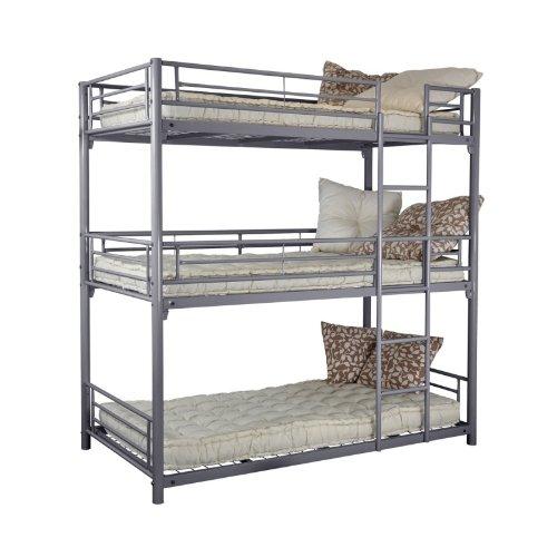 Trios 3 Level Bunk Bed 90 X 190 Cm Metal Silver