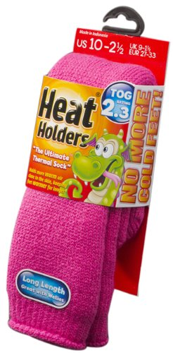 Heat Holders Children Small Heat Holders, Mid Pink, US Shoe Size 10-2½, 1 Pair