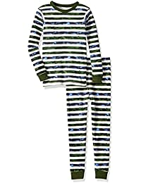Unisex Pajamas, Tee and Pant 2-Piece PJ Set, 100% Organic...