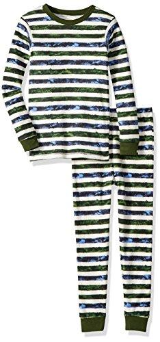 Burt's Bees Baby Unisex Baby Little Kids Pajamas, 2-Piece PJ Set, 100% Organic Cotton (12 Mo-7 Yrs), Ivy, 5 Years (Clothing Cotton Organic Childrens)