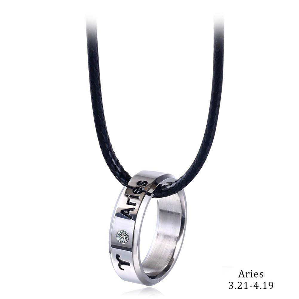 9a490eea65eeb xingqiong Zodiac Constellation Necklace for Women Stainless Steel Horoscope  Sign Tag Ring Necklace Choker Men Girls Guard Jewelry Birthday Gift