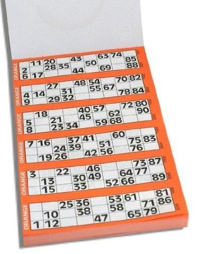 jumbo book of bingo tickets for 90 ball bingo