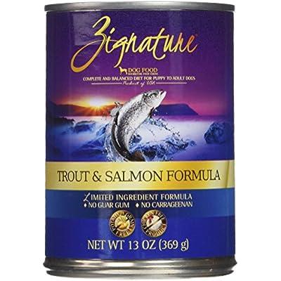 Zignature Trout And Salmon Formula Dog Food, 13 Ounces, Case Of 12