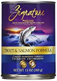 Zignature Trout and Salmon Formula Dog Food, 13 Ounces, Case of 12 For Sale