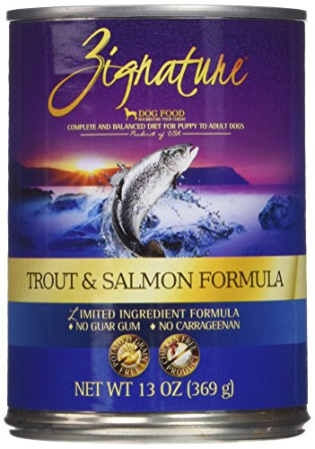 Zignature Trout And Salmon Formula Dog Food, 13 Ounces, Case Of 12