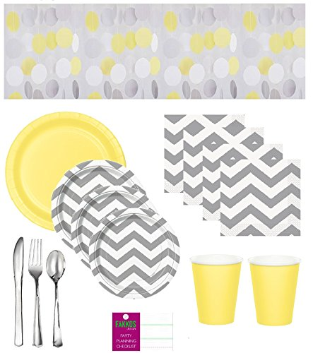 Gender Neutral Baby Shower Supplies - Gray Chevron
