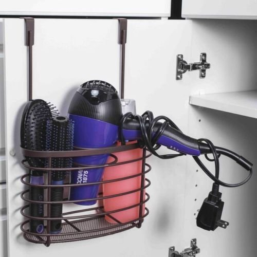 Over The Cabinet Hairdryer Holder U0026 Organizer