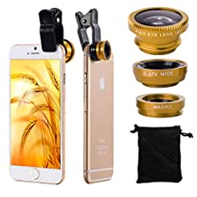 XCSOURCE 3in1 Fish Eye + Wide Angle Macro Lens Phone Camera Kit
