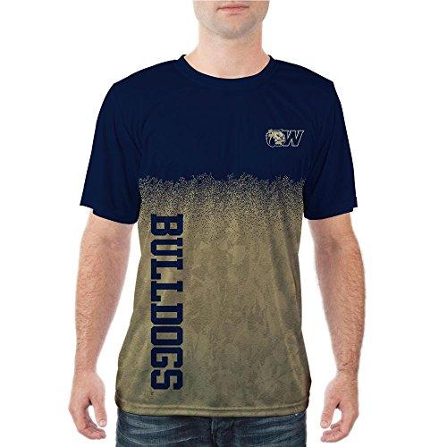Wingate University Bulldogs Short Sleeve Shirt Diffusion Design (Large) (Wingate Bulldogs compare prices)