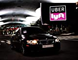 Uber Lyft LED Light Sign Logo Sticker Decal Glow Wireless Decal Accessories Removable Uber Lyft Glowing Sign For Car Taxi Uber Lyft Lithium Battery Power