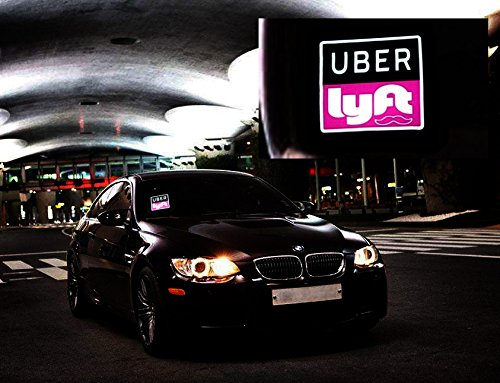Uber Lyft LED Light Sign Logo Sticker Decal Glow Decal Accessories
