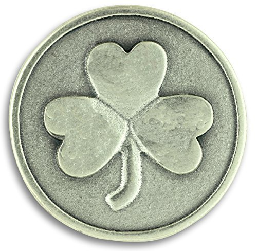 Lot of 3! Shamrock 3 Three Leaf Clover Good Luck Pocket Token Charm Coin with Prayer Health Happiness - Good Luck Token