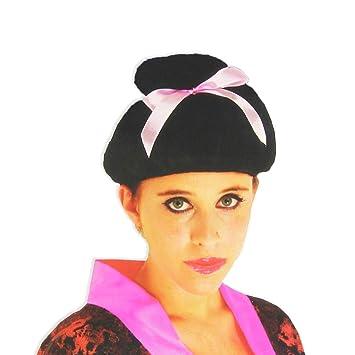 Dress up America Peluca de geisha de niña asiática: Amazon.es: Juguetes y juegos