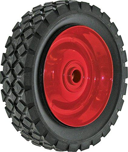 Shepherd Hardware 9589 6-Inch Semi-Pneumatic Rubber Tire, Steel Hub with Ball Bearings, Diamond Tread, 1/2-Inch Bore Offset Axle