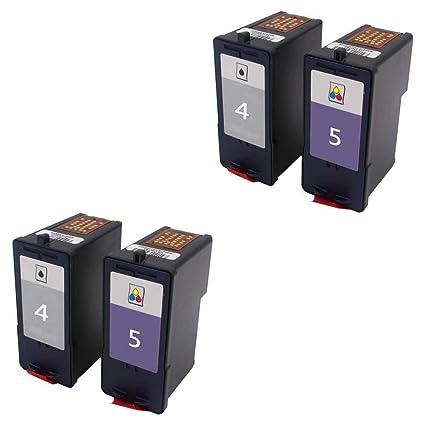 Teng® - Juego de 4 Cartuchos de Tinta para Impresora Lexmark 4 5 ...