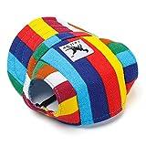 RLgoods Rainbow Print Jean Material Dog Cap Sport Hat for Pet Dog Cat L