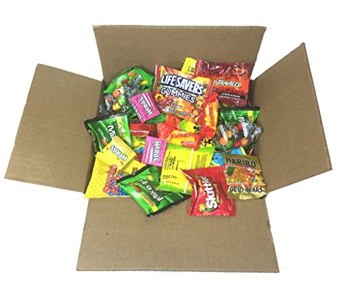 Party Candy Pinata Filler 4.5 lb Party Gift Box Bulk Candies 72 oz- Twizzlers Licorice, Haribo Gummy Bears, Gobstoppers, Starbursts, Skittles, and More Assortment (Premium Variety) (Pirate Theme Snacks)