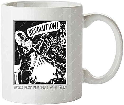 Marxist Monopoly Philosophy Communism Marx Tea Cups Mug/Tazas de desayuno Cup: Amazon.es: Hogar
