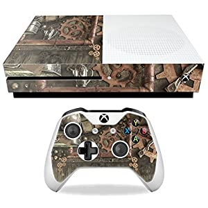MightySkins Skin Compatible with Microsoft Xbox One S – Steam Punk Room | Protective, Durable, and Unique Vinyl Decal wrap Cover | Easy to Apply, Remove, and Change Styles | Made in The USA